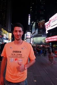 Ritratto di enrico mazza alla maratona di new york 2015