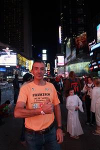 ritratto di francesco fiorini alla maratona di new york 2015