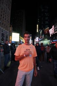ritratto di luca montagna alla maratona di new york 2015