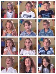 Bambini intervistati per la campagna Che fine ha fatto la cicogna